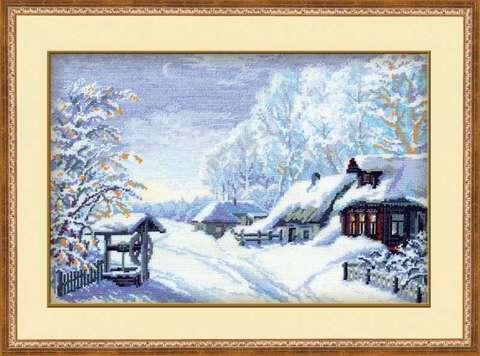 Набор для вышивания крестом «Русская зима» (989)