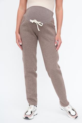 Утепленные спортивные брюки для беременных 12014 какао