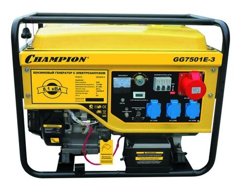 Бензогенератор Champion GG7501E 6.5 кВт с электростартером
