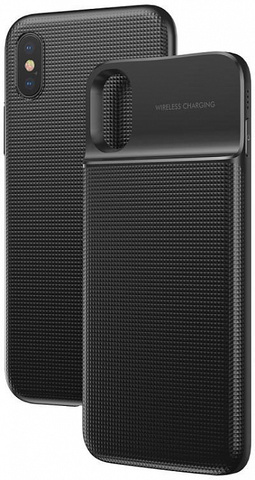 Чехол Baseus 1+1 Wireless Charge Backpack Power Bank 5000 mAh ACAPIPHX-ABJ01 для Apple iPhone X/XS (Black)
