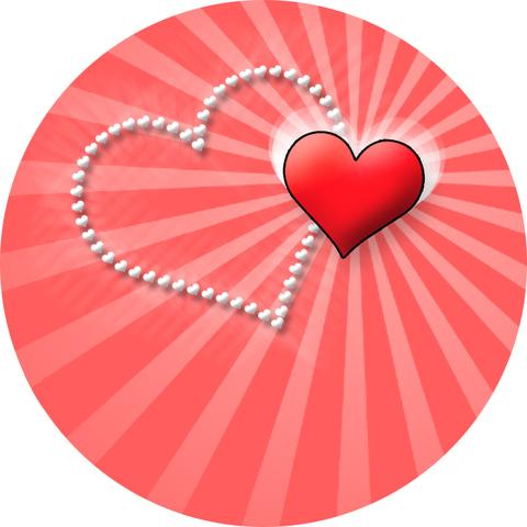 Печать на вафельной бумаге, День Влюбленных 2