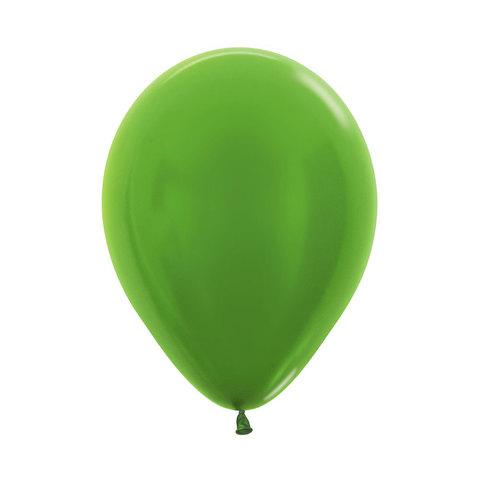 Латексный воздушный шар, цвет лайм металлик