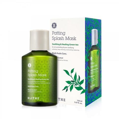 Blithe Soothing&Healing Green Tea Splash Mask успокаивающая сплэш-маска для проблемной кожи с зеленым чаем