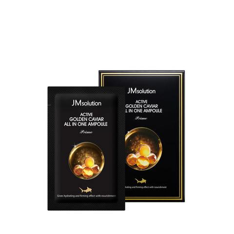 JM Solution Active Golden Caviar All in one Ampoule Prime маленькая коробочка по 30 саше