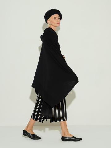 Женский шарф черного цвета из 100% шерсти - фото 2