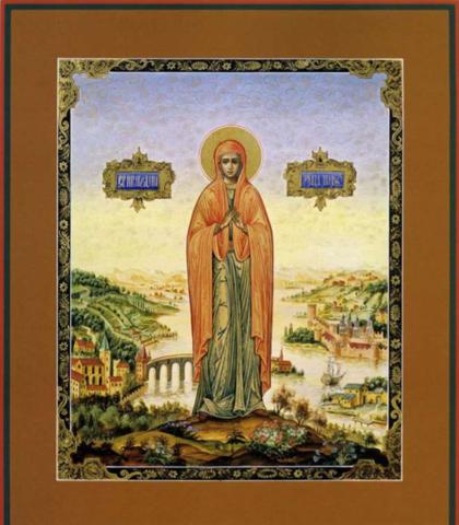 Икона святая Лия на дереве на левкасе мастерская Иконный Дом