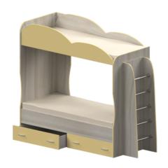Кровать детская двухъярусная Индиго, ваниль