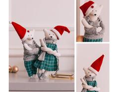 Мягкая игрушка Зимние мишки, набор для шитья