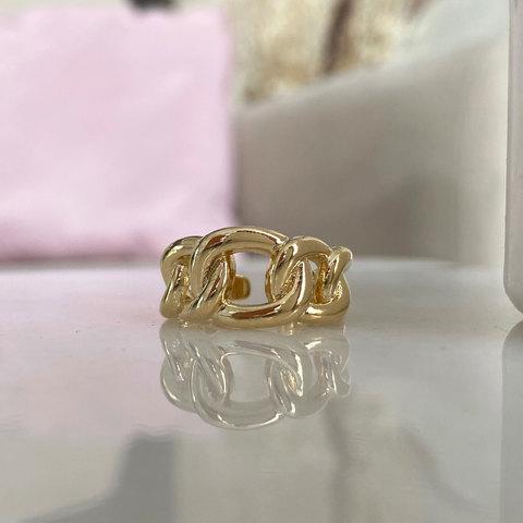 Кольцо Звенья free size (золотистый)