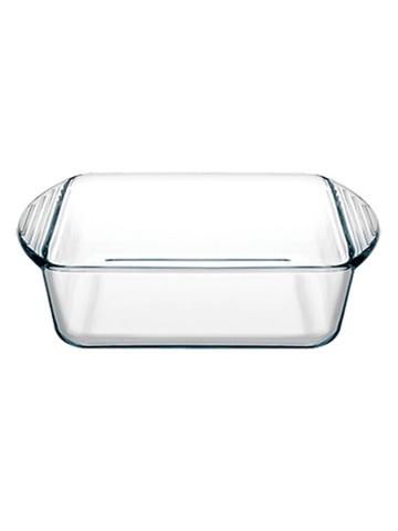 Форма для запекания жаропрочная стеклянная квадратная 1 литр Borcam 59854 лоток с ручками квадратный 21х16х5,5 см рубашка