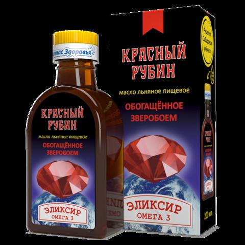 Масло льняное Красный рубин 200 мл (Компас здоровья)