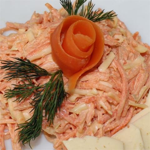Салат из моркови с сыром 1 кг