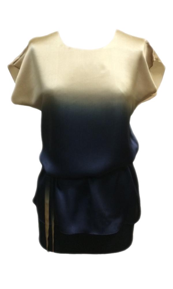 Шелковый топ-блузка батик Рассвет