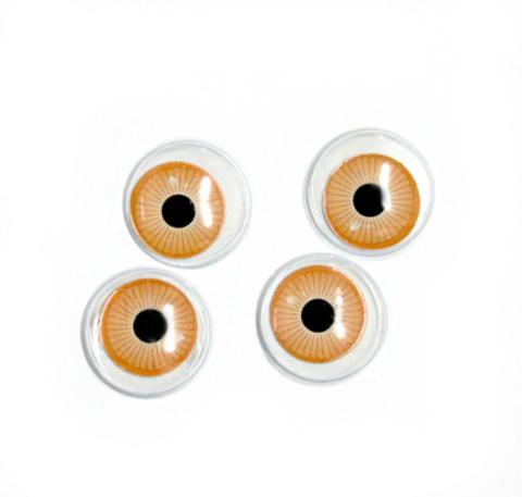 Глазки бегающие радужка 18 мм КЛ.26633 цв.коричневый