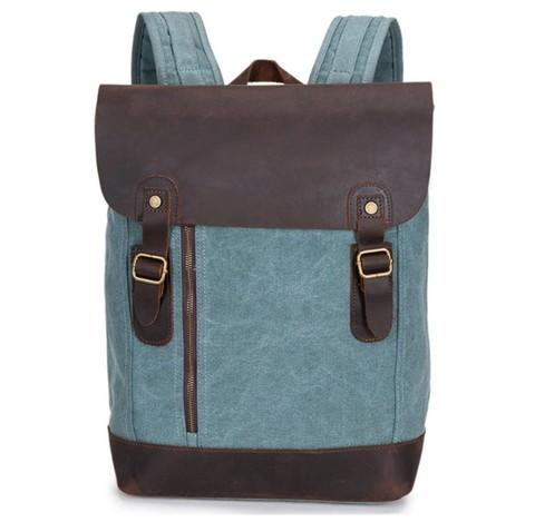 Рюкзак из кожи и хлопка BUG 388 Blue