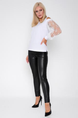 Брюки (эко-кожа). <p>Отличная весенняя новинка - брюки из эко-кожи. Удачная модель на каждый день. Длины: (44р-98,46р-99,48р-100, 50р-101,52р-102).</p>