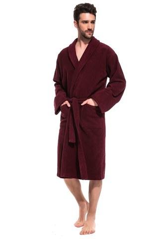 Мужской банный халат RED  King 305 бордовый