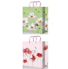 Подарочные пакеты 32х45х10 из ламинированной бумаги (Микс к-т 40 шт.))