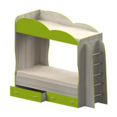 Кровать детская двухъярусная Индиго, лайм