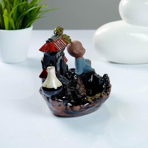 Комплект подставка Китайский сад +благовония, аромат лаванды, 12 × 18 × 13 см