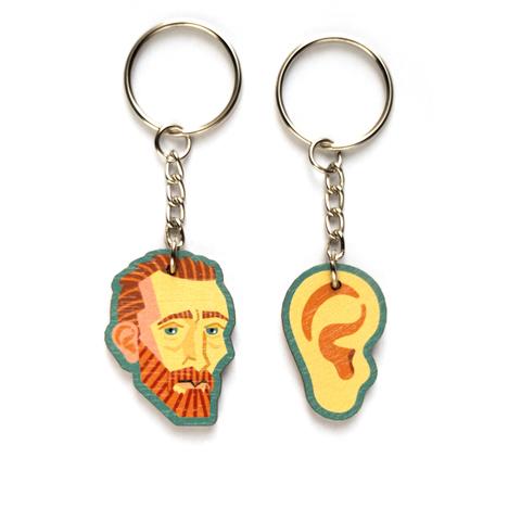 Брелоки парные Ван Гог и ухо