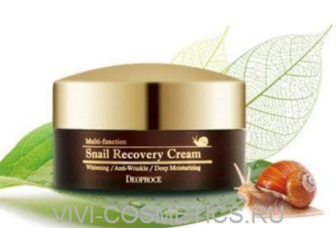 Восстанавливающий крем с экстрактом улитки | DEOPROCE SNAIL RECOVERY CREAM (100g)