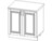 Стол кухонный под мойку ВЕРОНА 2-ств 800