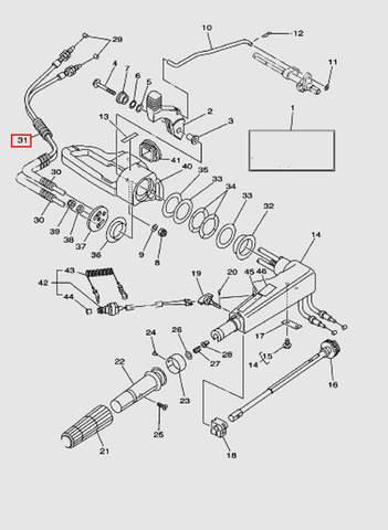 Трубка L40 для лодочного мотора T40 Sea-PRO (14-31)