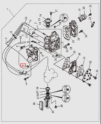 Клапан для лодочного мотора T9.8 Sea-PRO (2-5)