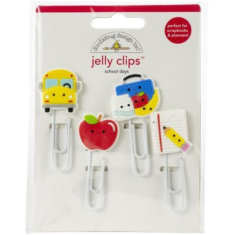 Скрепки-закладки  Doodlebug Jelly Clips  School Days- 4шт