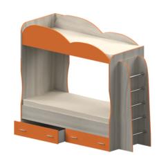 Кровать детская двухъярусная Индиго, оранжевая