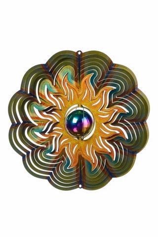 Ветряной спиннер Солнце с перламутровым шаром 25см (Iron Stop)