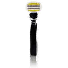 Shave Lab AON Бритва для женщин Черный/серебро, комплект 6+(с увлажняющей подушечкой) лезвий х 4шт