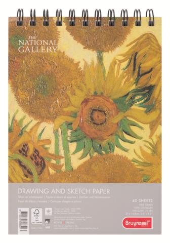 Альбом для зарисовок Bruynzeel National Gallery, 160гр/м.кв, А5, 40 листов на спирали