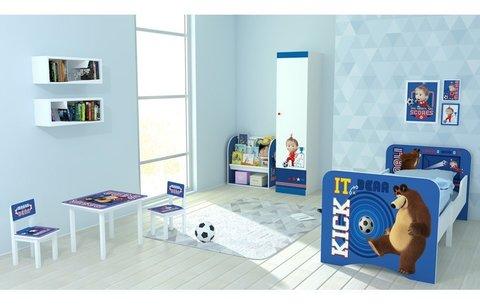 Комплект детской мебели Polini kids Fun 105 S Маша и Медведь, синий