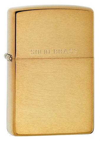 Зажигалка Zippo с покрытием Brushed Brass, латунь/сталь, золотистая, матовая, 36x12x56 мм123