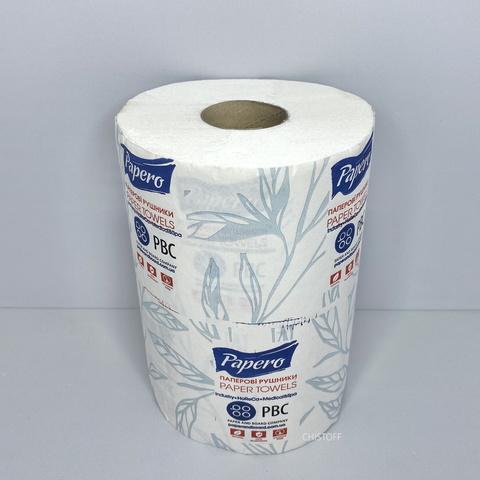 Полотенце бумажное Papero 2 сл. 50 м влаговпитывающие вес 19г белое (RL028)