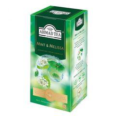 Чай зеленый Ahmad Tea  мята-мелиса 25*1,5г