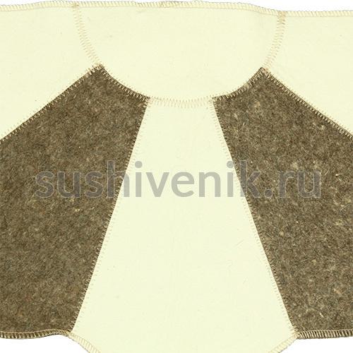 Серо-белый коврик для бани