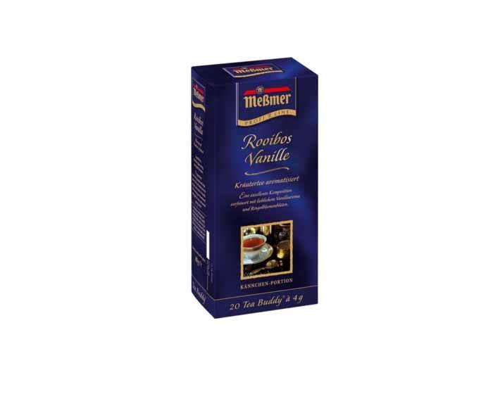 Чай фруктовый в пакетиках Messmer Ройбос Ваниль, 20 пак/уп, 4 г