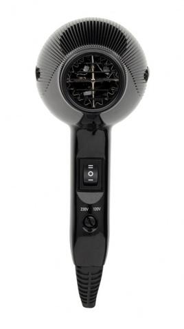 Фен Gamma Piu E-T.C. Mini, 1200 Вт, 2 насадки, черный