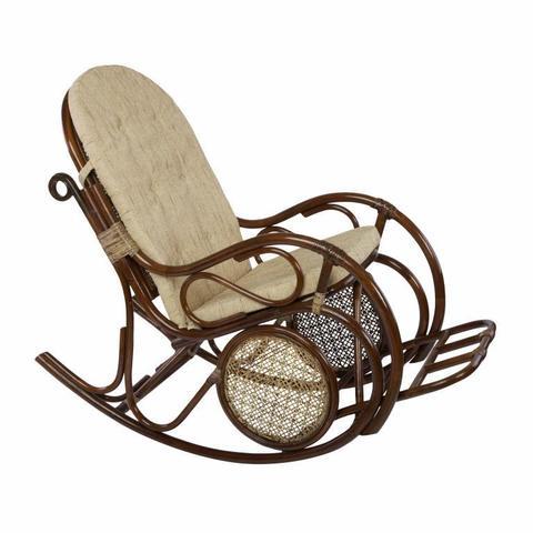 Кресло-качалка с подножкой, 05/10 Б (подушка рогожка)