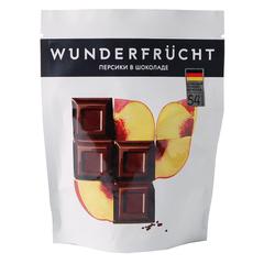 WunderFrucht Конфеты Персик в темном шоколаде 54% 75 г