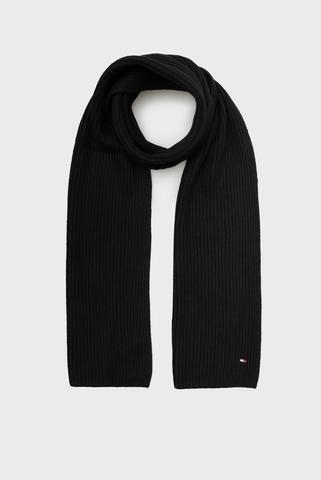 Мужской  черный шарф PIMA Tommy Hilfiger