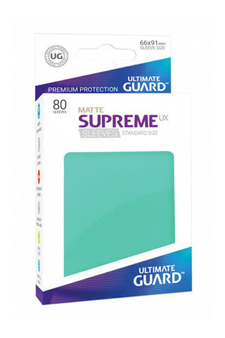 Supreme Sleeves Standard Size Matte Turquoise (UX)
