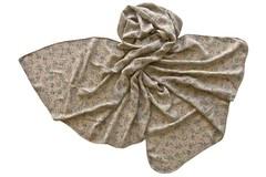 Палантин коричнево-серый с принтом 1251