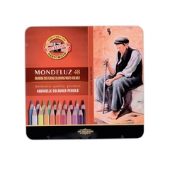Набор акварельных цветных карандашей Koh-I-Noor 3726 Mondeluz в жестяной упаковке, 48 цветов