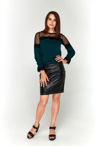 Темно-зеленая блузка Lolly из софта