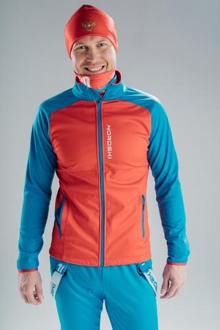 Разминочная куртка Nordski Premium Red/Blue мужская