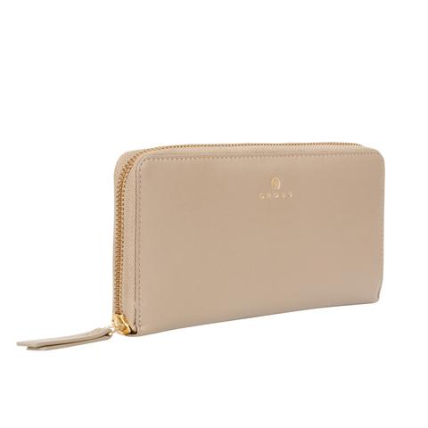 Женский кожаный большой кошелёк 19,5х10х2см CROSS Monaco Taupe AC898287_1-11